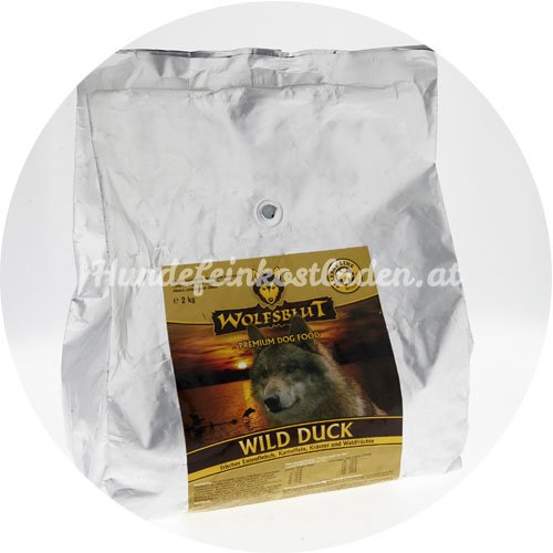 wolfsblut wild duck ente hundefeinkostladen dein spezialist f r d 13 99. Black Bedroom Furniture Sets. Home Design Ideas