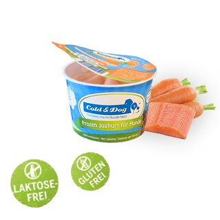 Cold & Dog Frozen Joghurt Wildlachs & Karotten