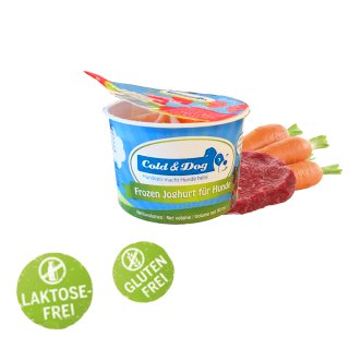 Cold & Dog Frozen Joghurt Rind & Karotten 90ml