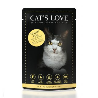 Cats Love Huhn Pur 85g
